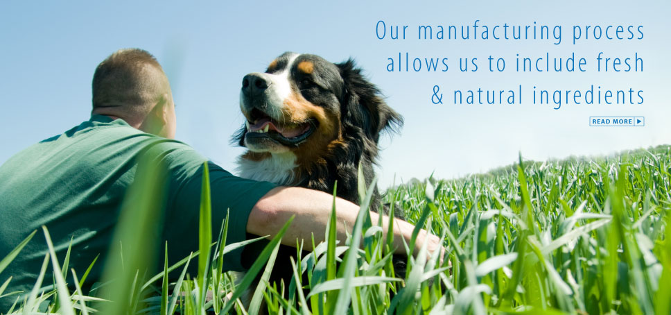 Our manufacturing process allows us to include fresh and natural ingredients.
